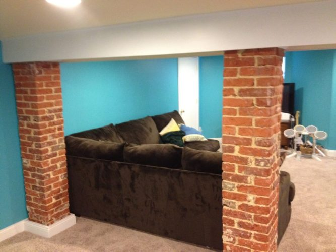 family room for children in basement