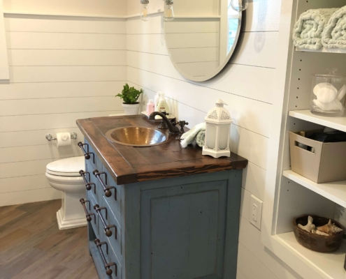 Rustic Bathroom with Shiplap
