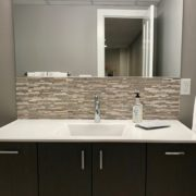 bathroom remodeling project with vanity