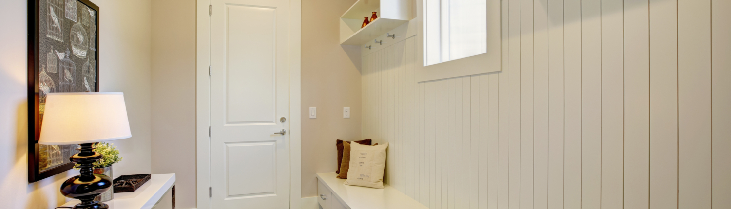functional and transitional option for mudroom home addition
