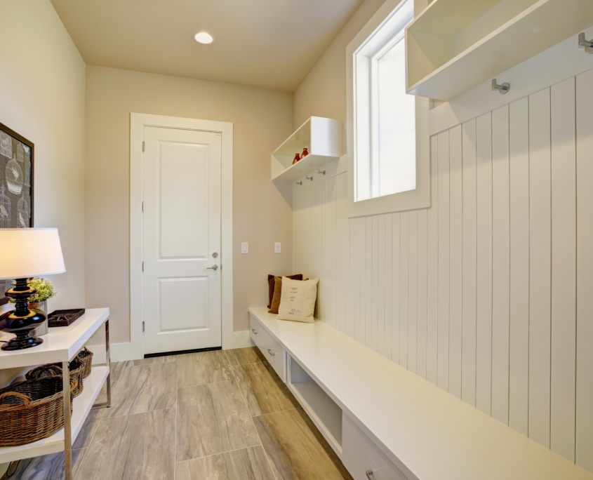 functional and transitional option for mudrooms