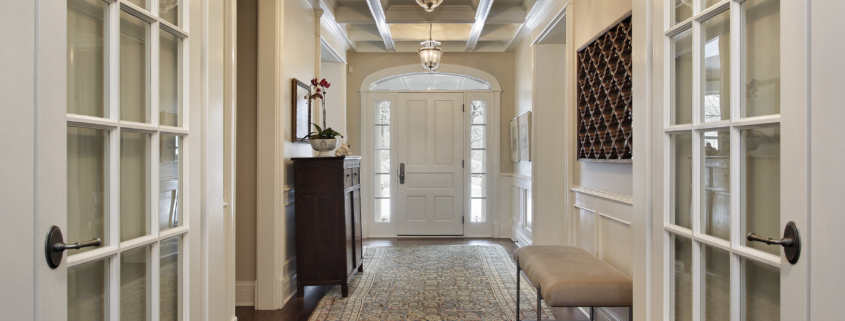 Paint, woodwork and ornate details