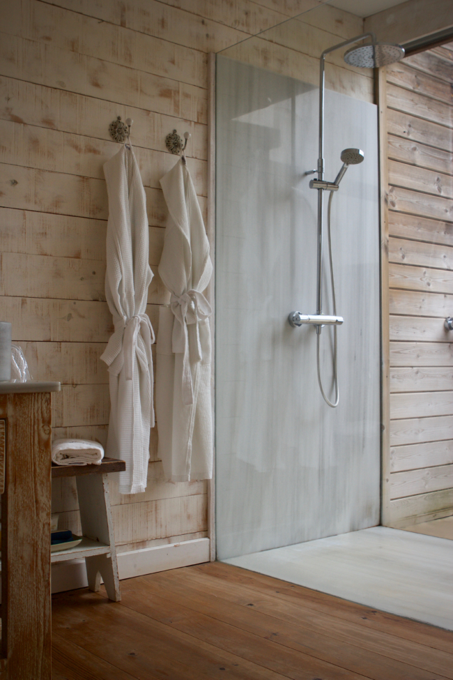 nature inspired walk-in shower
