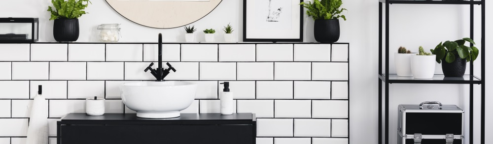 home improvement trends with black grout