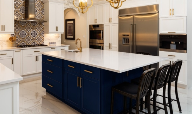 dark blue cabinetry home design trends 2020
