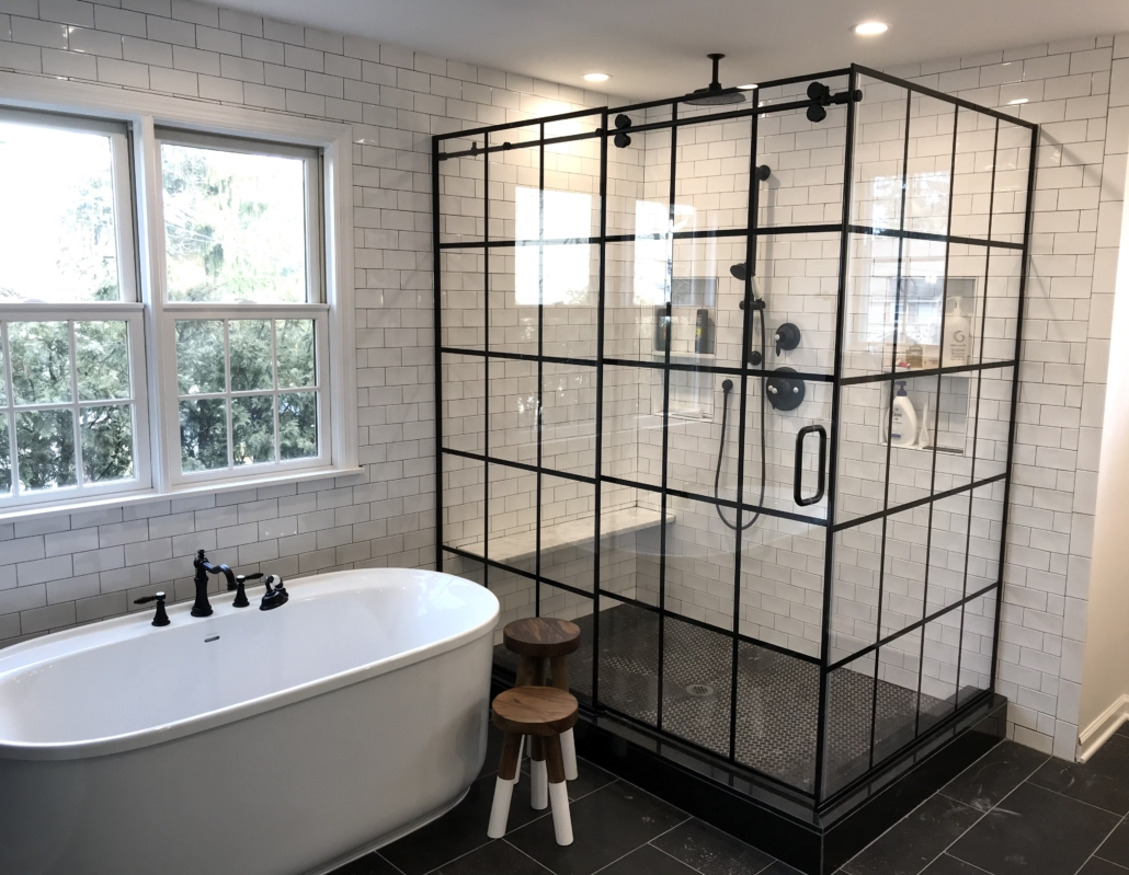 framed industrial shower