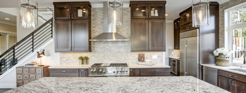 Kitchen design with granite countertops