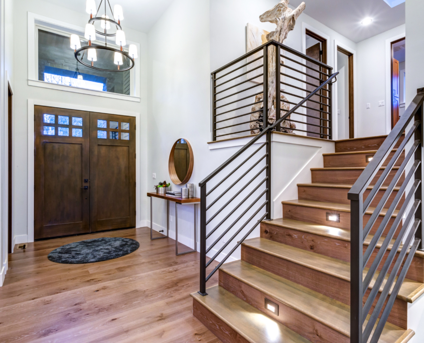 staircase in your entryway design